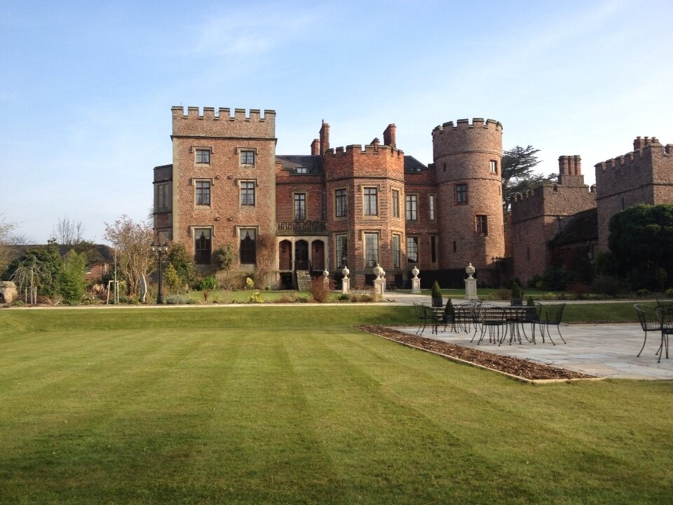 Rowton Castle's lawn's first cut of the year!