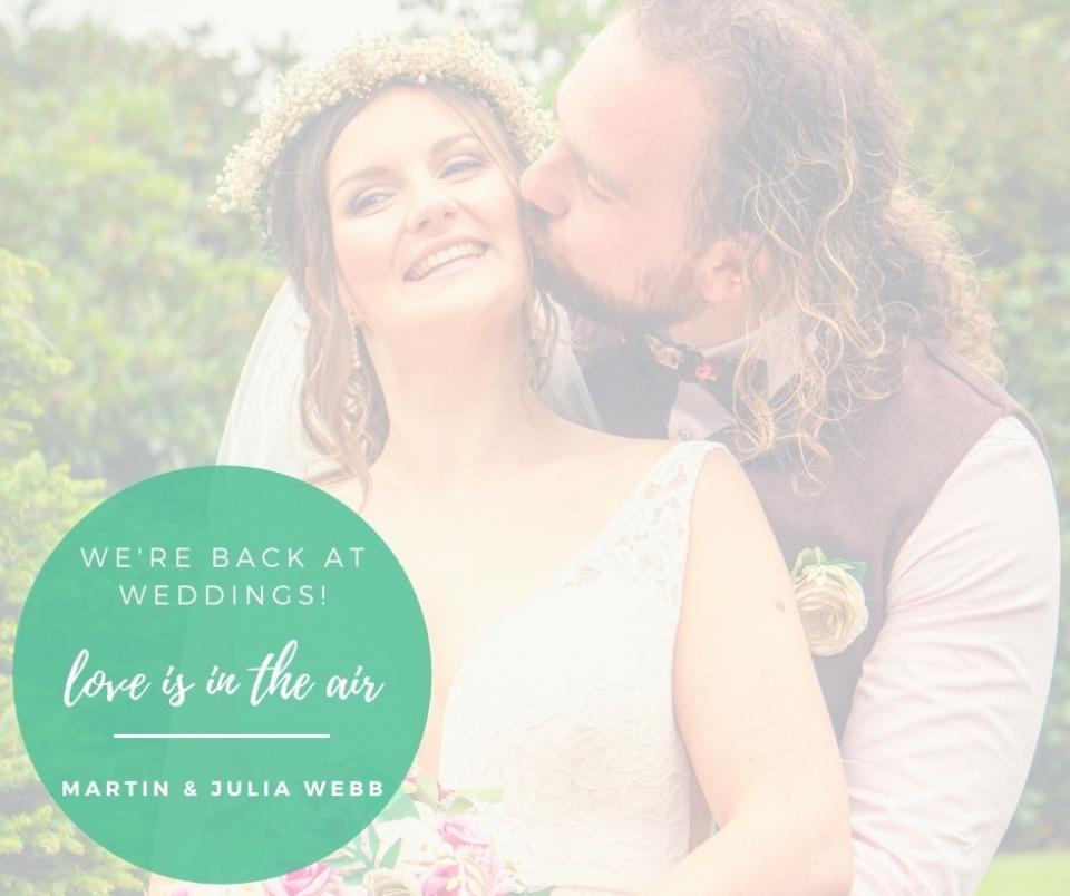 Back doing what we love – Weddings!