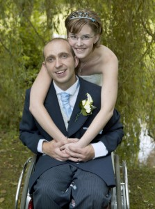 The Mill, Alveley - Bride and Groom hug
