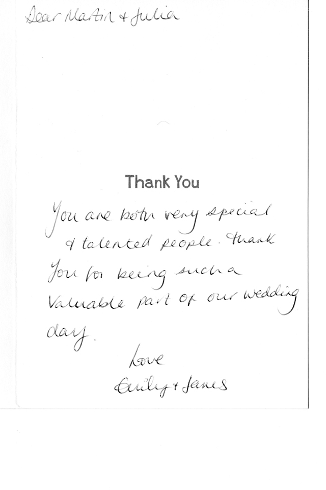 lovely thank yous from past weddings