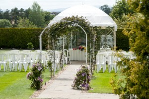 Outside Ceremony Venue at The Albright Hussey Manor