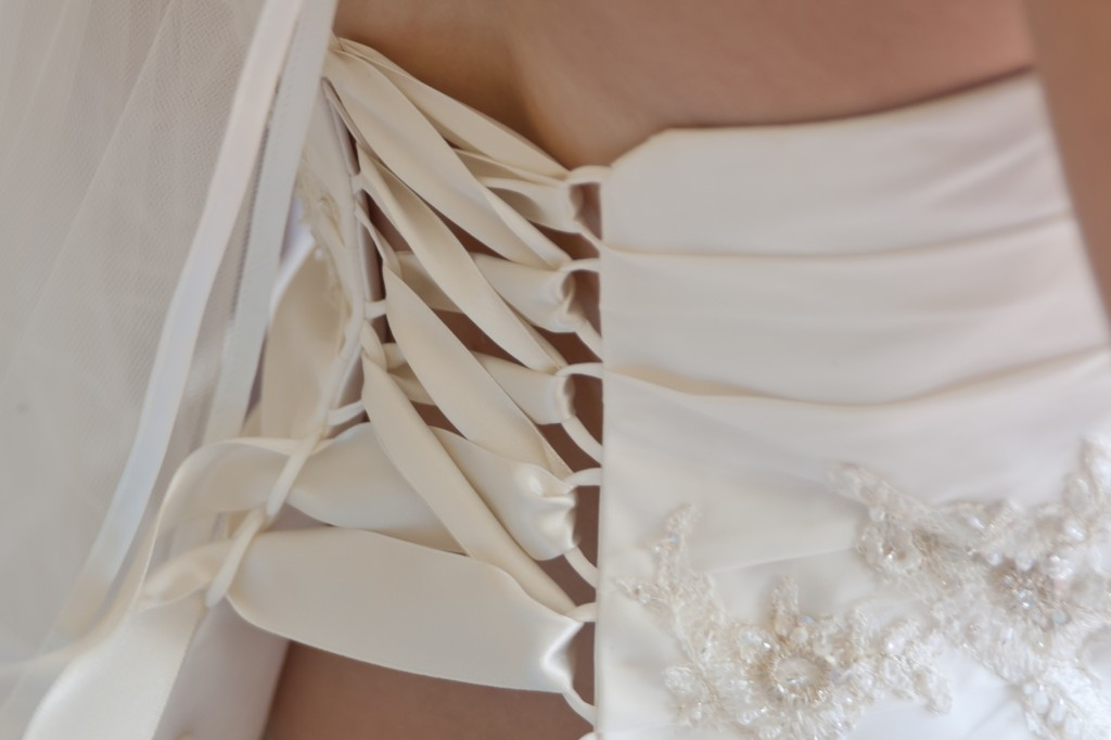 Detail of Bride's Dress