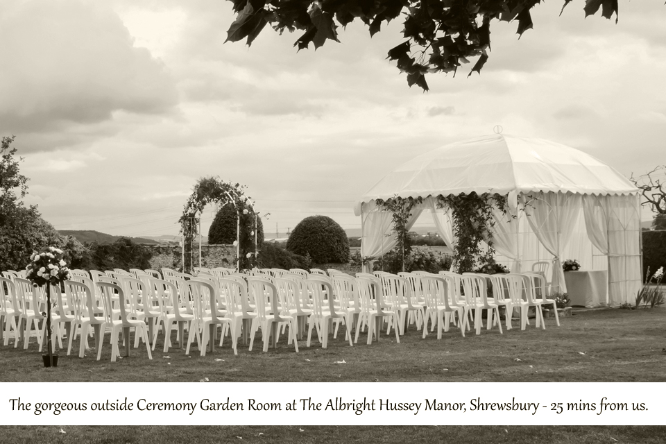 Outside ceremony at wedding venue