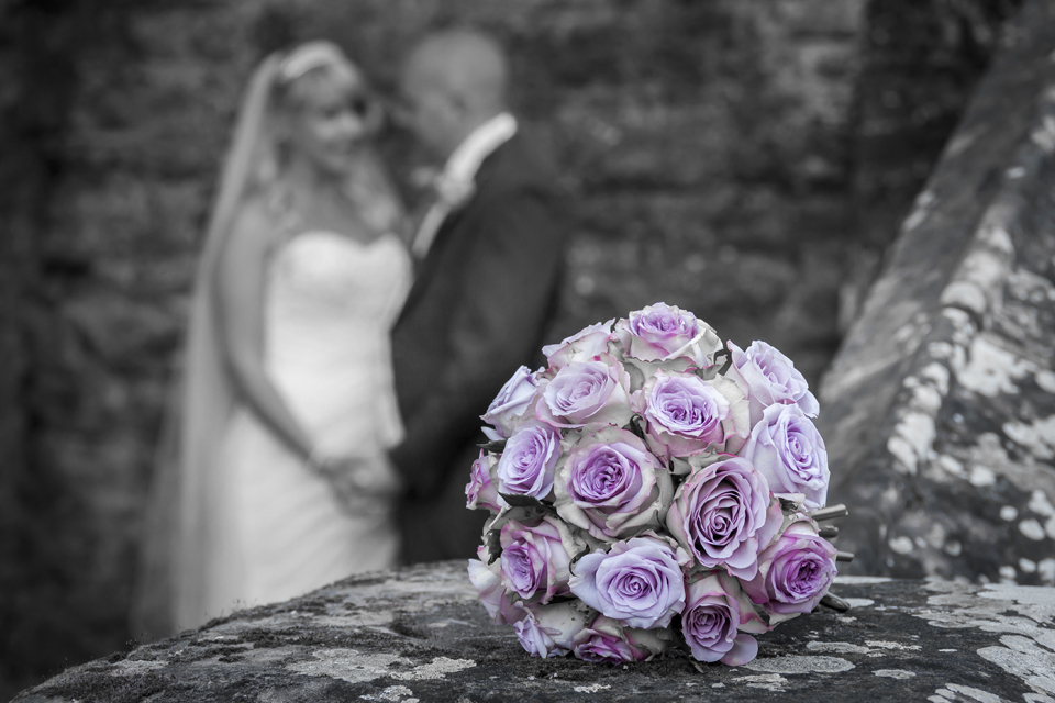 Bride & Groom at Rowton Castle