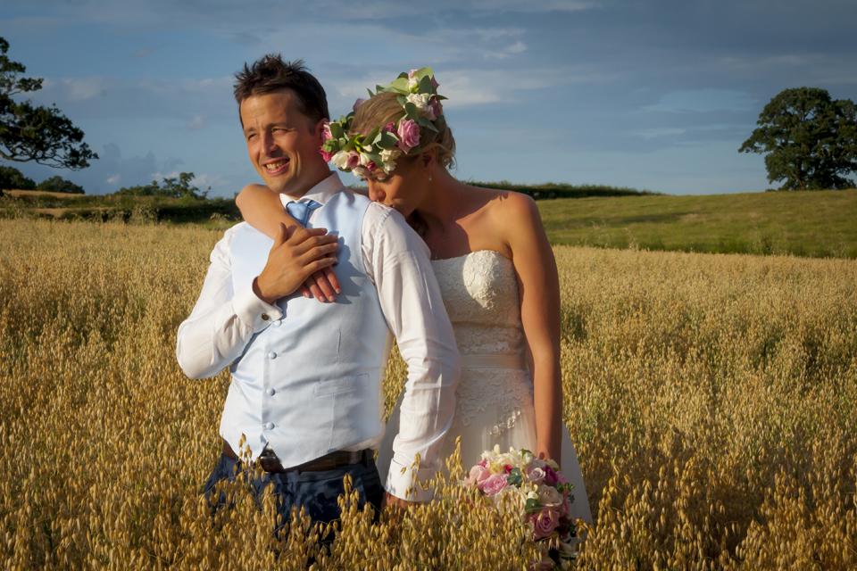 Bride and Groom romantic capture