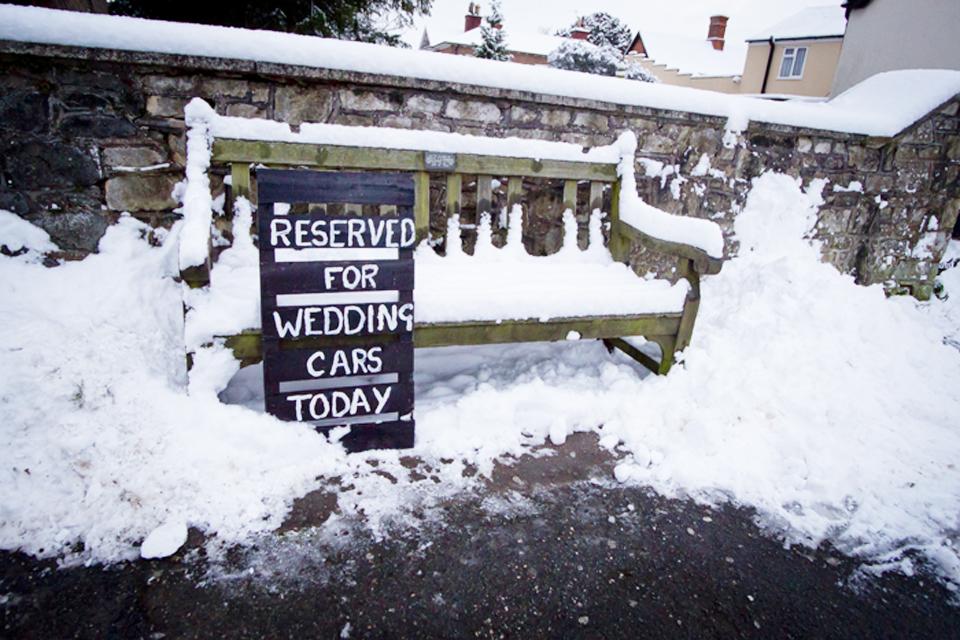 Winterwonderland wedding in 2010