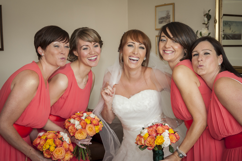Bride and her girls pre-wedding