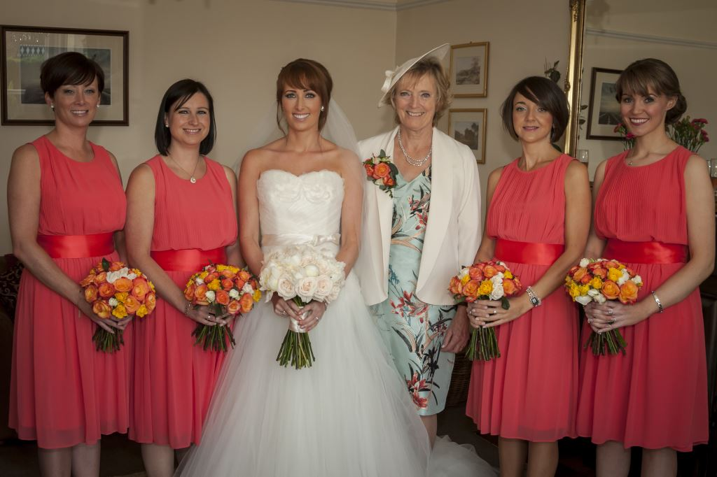 Bride and her Mum and the girls