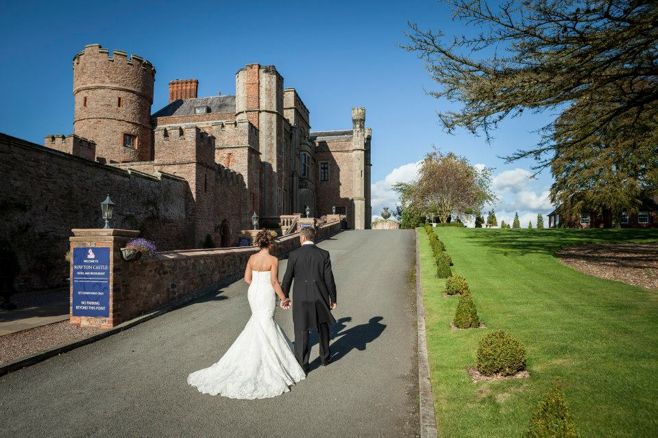 Bride and Groom at Rowton Castle